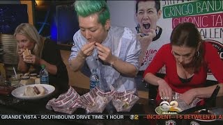 Competitive Eater Kobayashi Goes Up Against 2 Pregnant Women