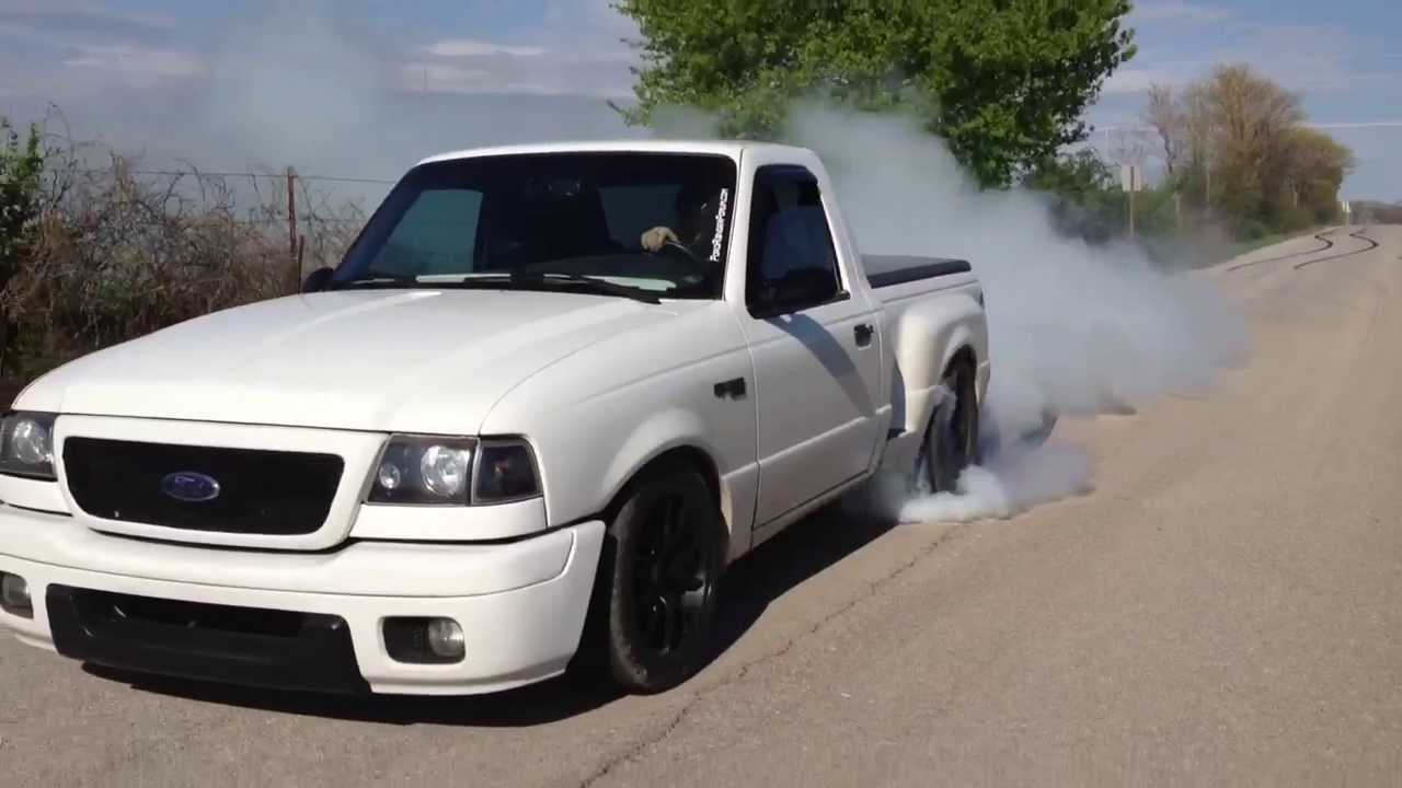 Massive 1999 ford ranger 331c i stroker burnout youtube