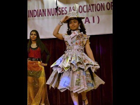 Newspaper Dress DIY Theme Fashion Show 2016 | Gupt Title Song | Kajol Bobby Deol Manisha Viju Shah