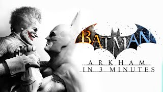 All Batman Arkham Games in 3 Minutes! (Batman Arkham Cartoon Animation)