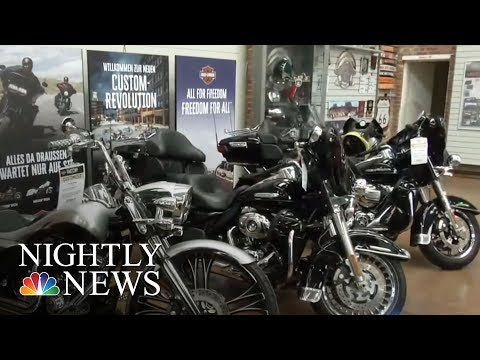 Harley Davidson Says New Tariffs Will Impact Sales And Costs   NBC Nightly News