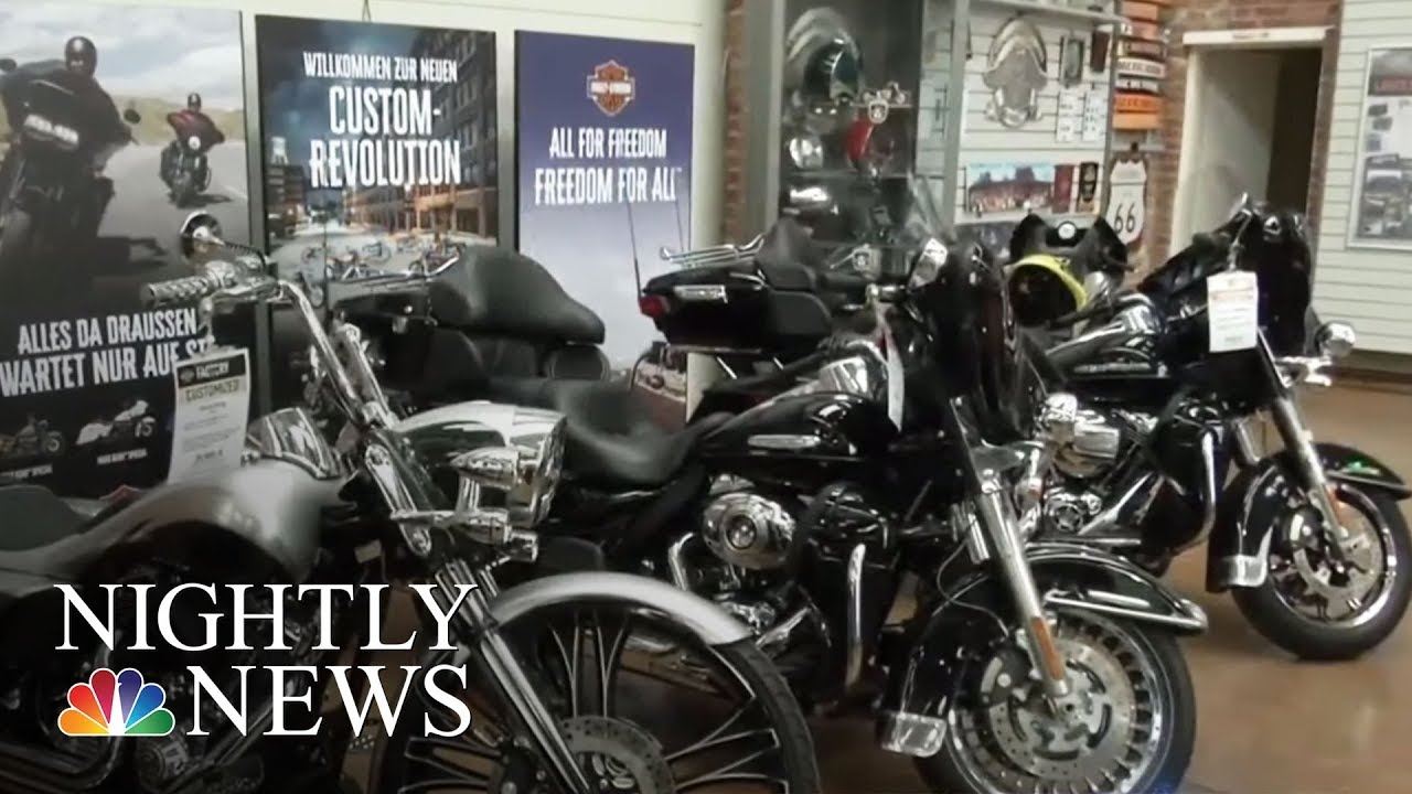 harley davidson says new tariffs will impact sales and costs nbc nightly news youtube. Black Bedroom Furniture Sets. Home Design Ideas