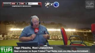 Vasco 2 x 0 Cruzeiro -  RODADA - 29ª Brasileirão - 14/10/2018