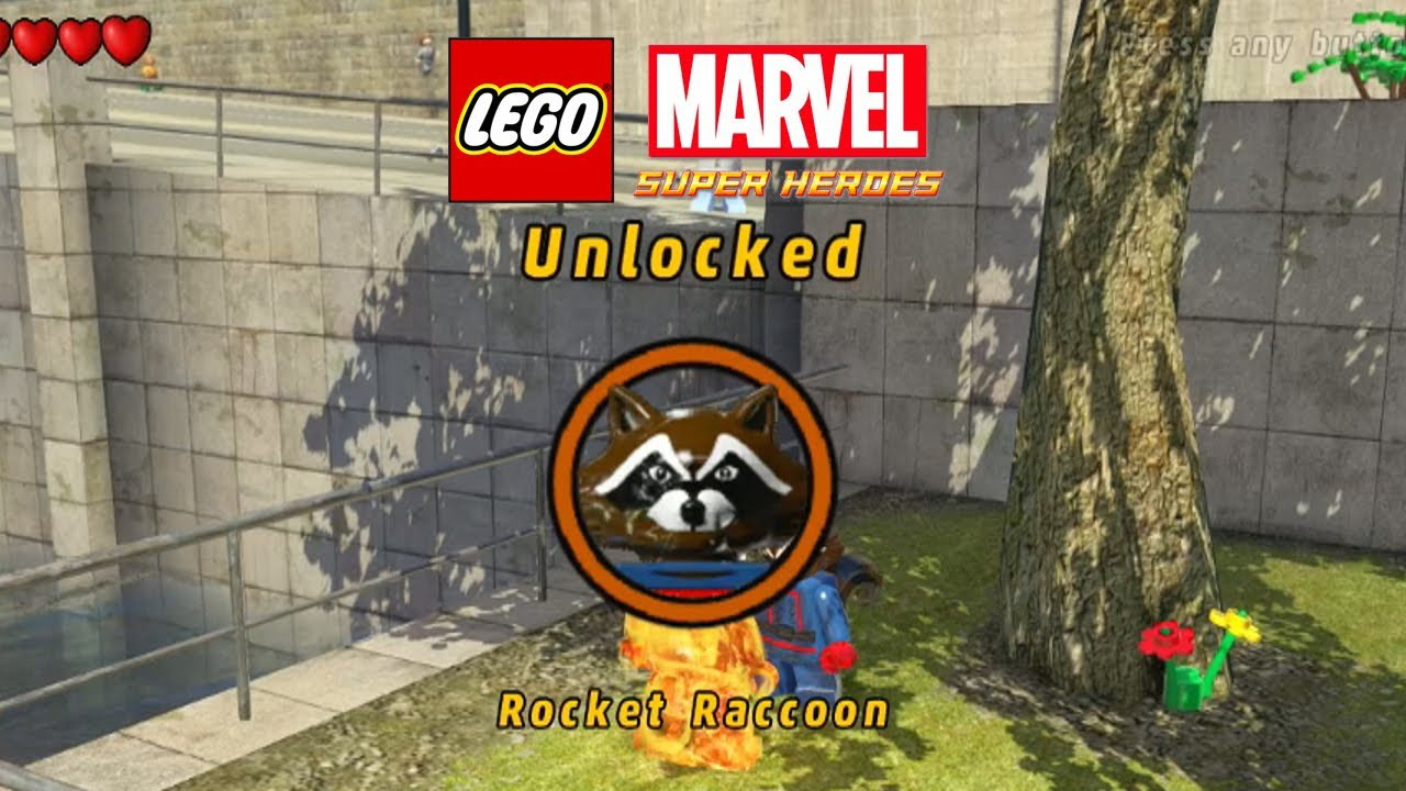 marvel lego unlock rocket raccoon
