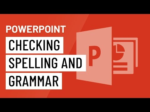 PowerPoint 2016: Checking Spelling and Grammar