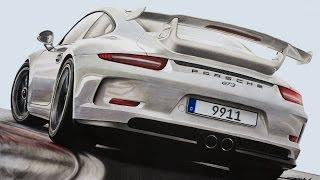 Porsche 911 (991) GT3 Drawing