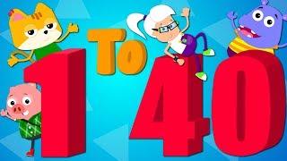 Numbers Song 1 TO 40   Counting Numbers   Learn Numbers   Nursery Rhymes
