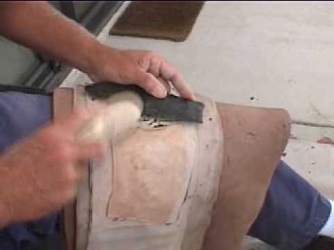 Flintknapping Abo blade, part 6