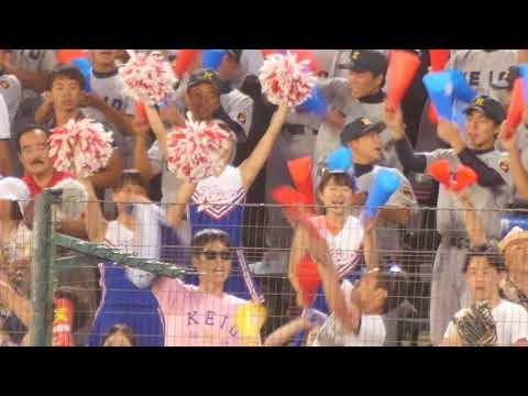 圧倒的な可愛さ慶応チア part7  甲子園 夏 2018 最終回裏 怒涛の応援
