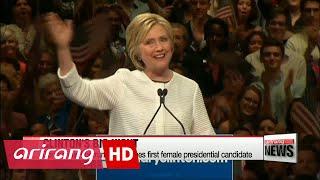Hillary Clinton claims historic victory as presumptive Democratic nominee