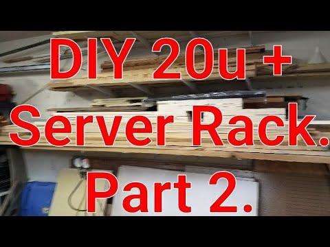 DIY 20u + server rack. Part 2. Making work space.