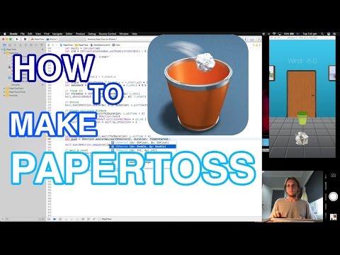 How to make Paper Toss (Swift 3 - Xcode - SpriteKit)
