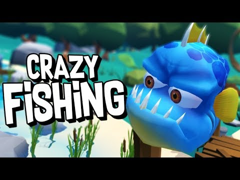 CATCHING CRAZY FISH in Virtual Reality! - Crazy Fishing (HTC Vive VR)