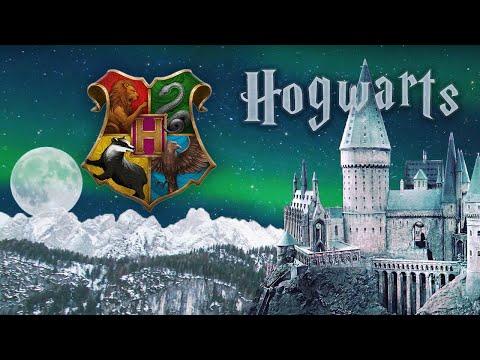 Hogwarts At Christmas 🎄 Harry Potter ASMR Ambience ⚡ Fireworks ❄️Winter Scene ☃️