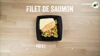 Tasty - Filet de saumon, pâtes au basilic & sauce citronnée