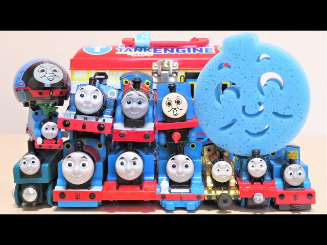 Thomas & Friends toys in the Thomas the tank engine box Trackmaster Wooden Railway RiChannel