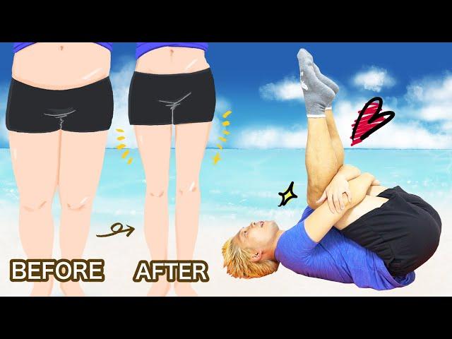 【1日1回】寝たまま、ぽっちゃり下半身が倍速で引き締まる10分トレーニング
