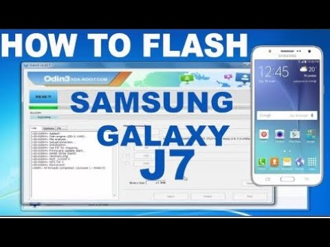 How to Flash Samsung Galaxy J7 SM-J700F 100% done odin tool by Smart Phone  Help