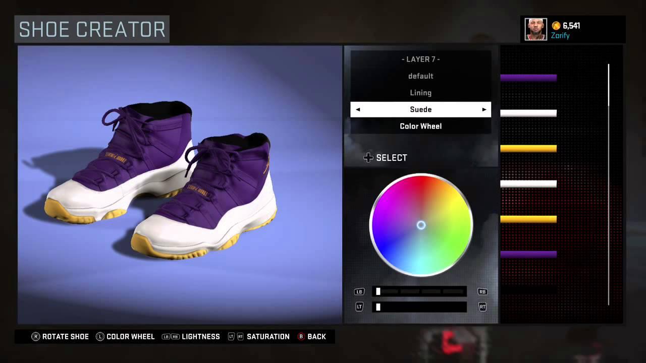 76bf913bc55a NBA 2K16 Shoe Creator - Air Jordan 11 Custom