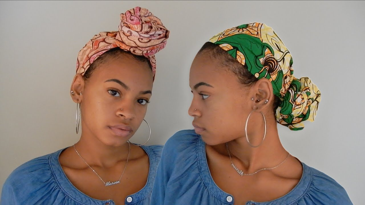 How To Tie A Headwrap Short Natural Hair Youtube