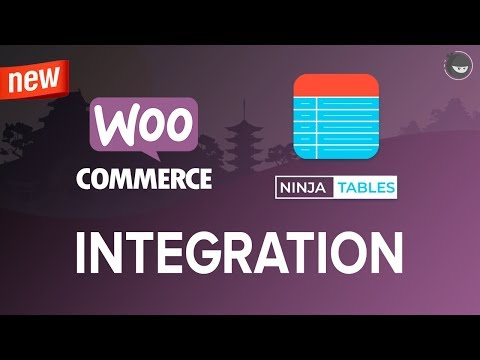 WooCommerce Product Table Integration to WordPress Tables (using Ninja Tables)