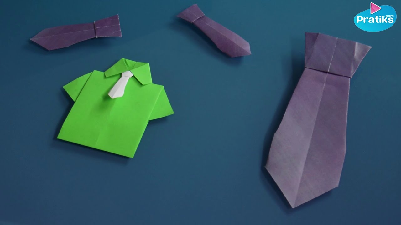 Origami comment faire une cravate en papier youtube - Comment faire origami ...