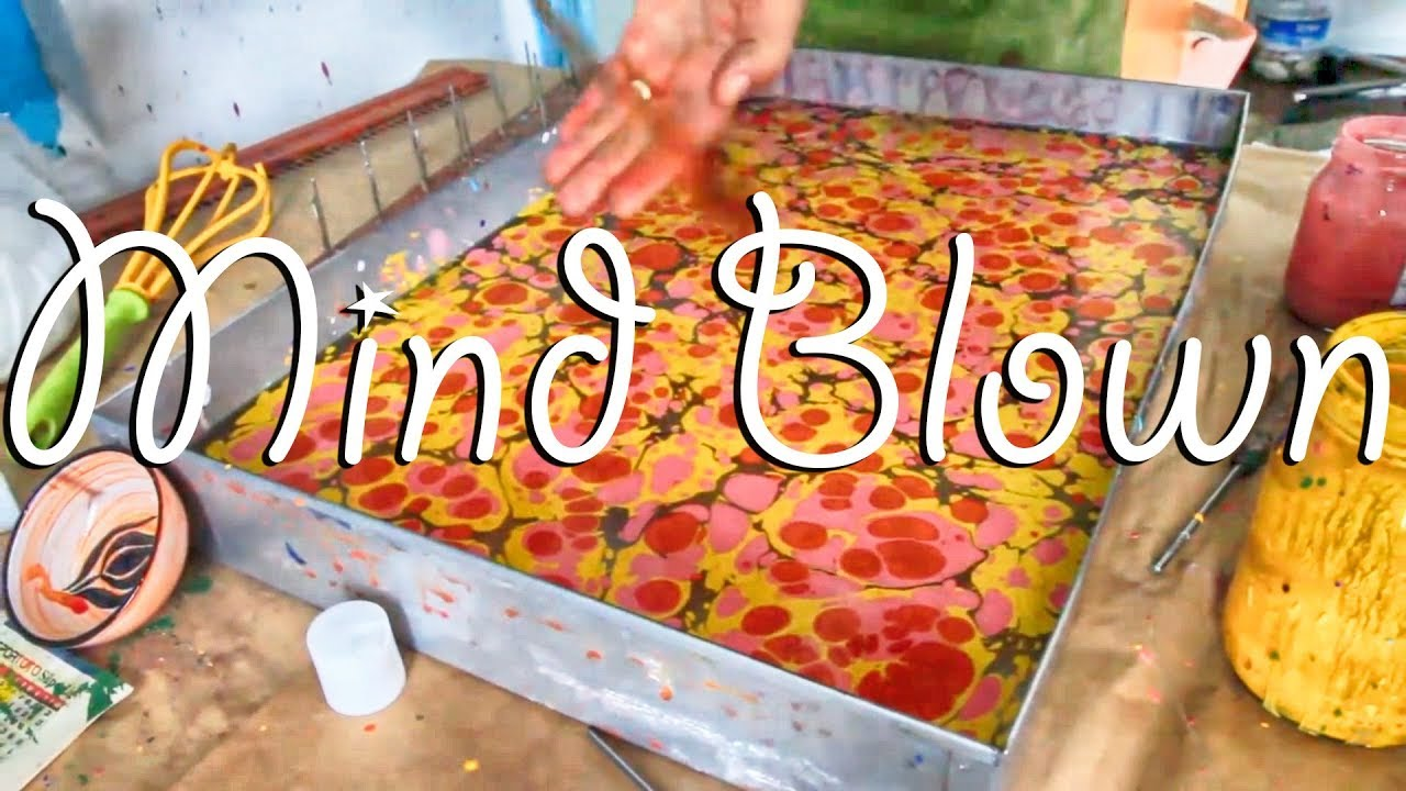 How To Paint On Water Ebru