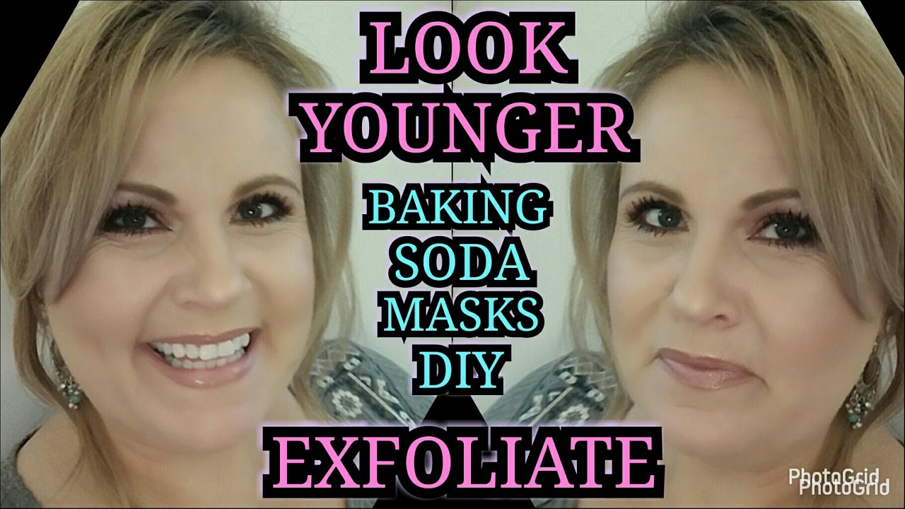 Look Younger Try Baking Soda Exfoliating Masks Antiaging For Mature Skin  Diy  Over 40 Skincare