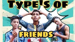 Type's of friends || R.d.films|| ft.deepak,aryan,sourabh||