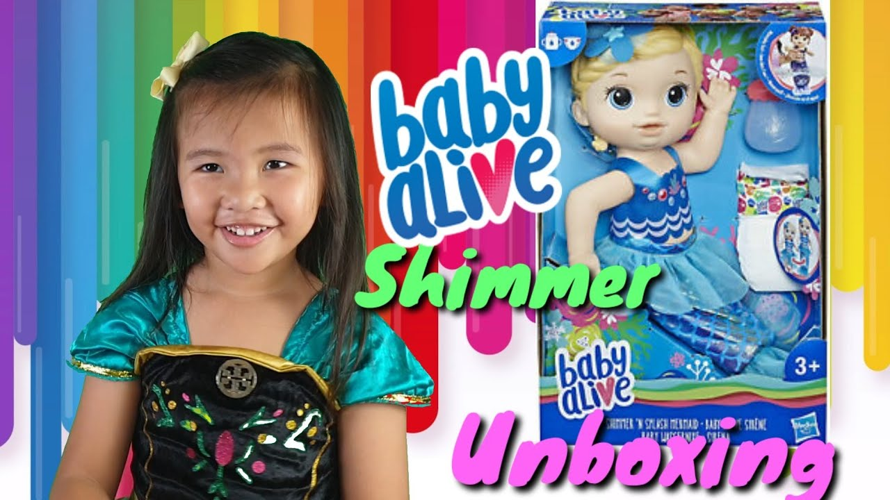 Baby Alive Shimmer n Splash Mermaid | Mermaid doll | Toys and Lessons