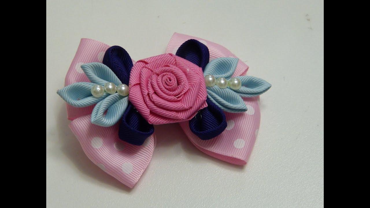 Como hacer lazos pares para ni as flor rococo facil hacer - Lazos grandes para decorar ...