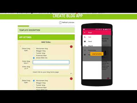 Create a blog - new Android Template - YouTube