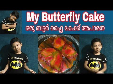 Oru Adaar Butterfly Cake | How to  Make Butterfly Cake | How to Bake Soft Chocolate Cake | Cake