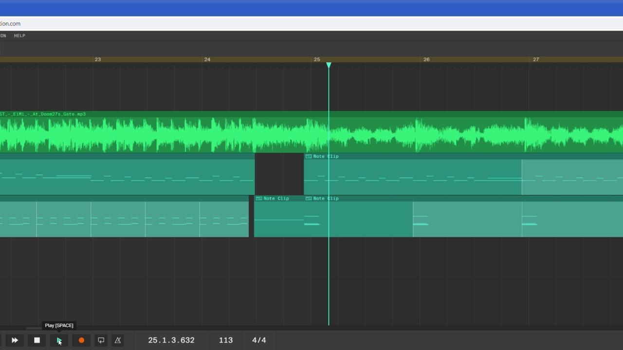 DOOM OST E1M1 - At Doom's Gate | Made in Soundation Studio