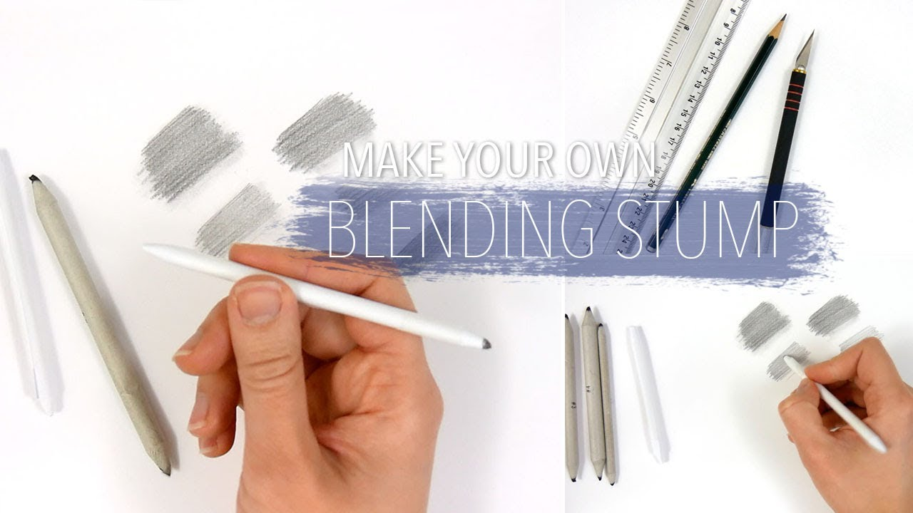 how to make your own blending stump to blend smudge the graphite