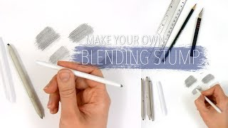 How to make your own blending stump to blend/smudge the graphite | Emmy Kalia