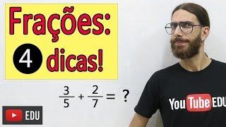 Não tenha medo de fração! 4 dicas de frações para ir bem em Matemática
