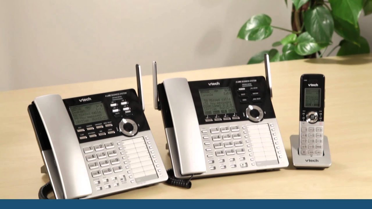 vtech 4 line small business system main console cm18445 vtech cordless phones [ 1280 x 720 Pixel ]