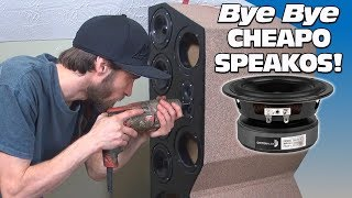 DIY Home Theater Towers: UPGRADING to Better Speakers & How To Wire a Speaker in Series / Parallel