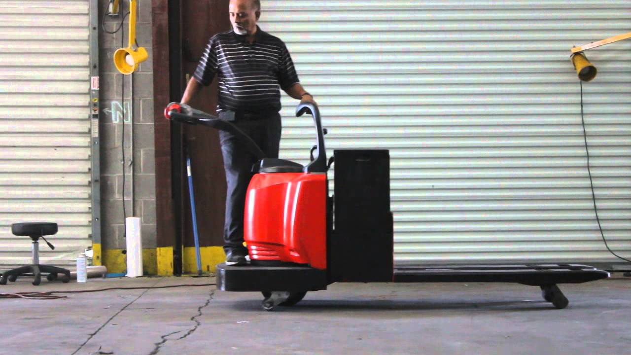 RAYMOND LONG FORK ELECTRIC PALLET JACK, by Atlanta Liquidation