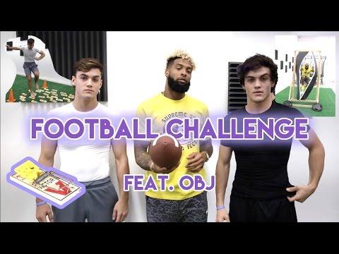 Football Challenge with Odell Beckham Jr.!!