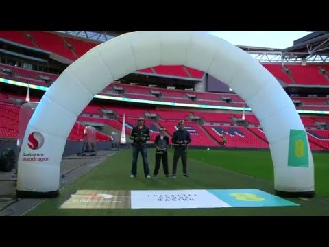 Drone racing live streamed over 4G at Wembley Stadium