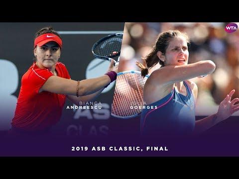 Bianca Andreescu vs. Julia Goerges | 2019 ASB Classic Final | WTA Highlights