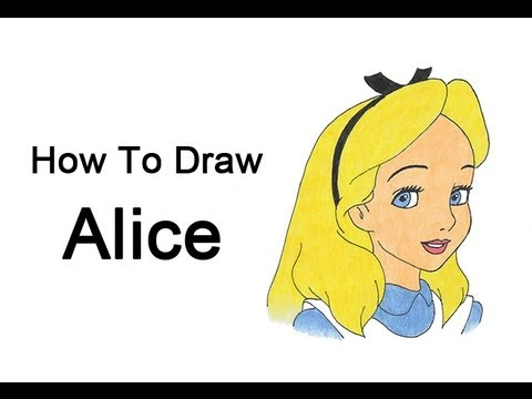 How To Draw Alice Alice In Wonderland Youtube