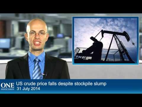 US crude price falls despite stockpile slump