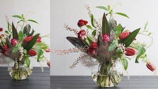 [플라워레슨] 여름 병꽂이 / [Flower Lesson] Summer flower arrangement in a fishbowl