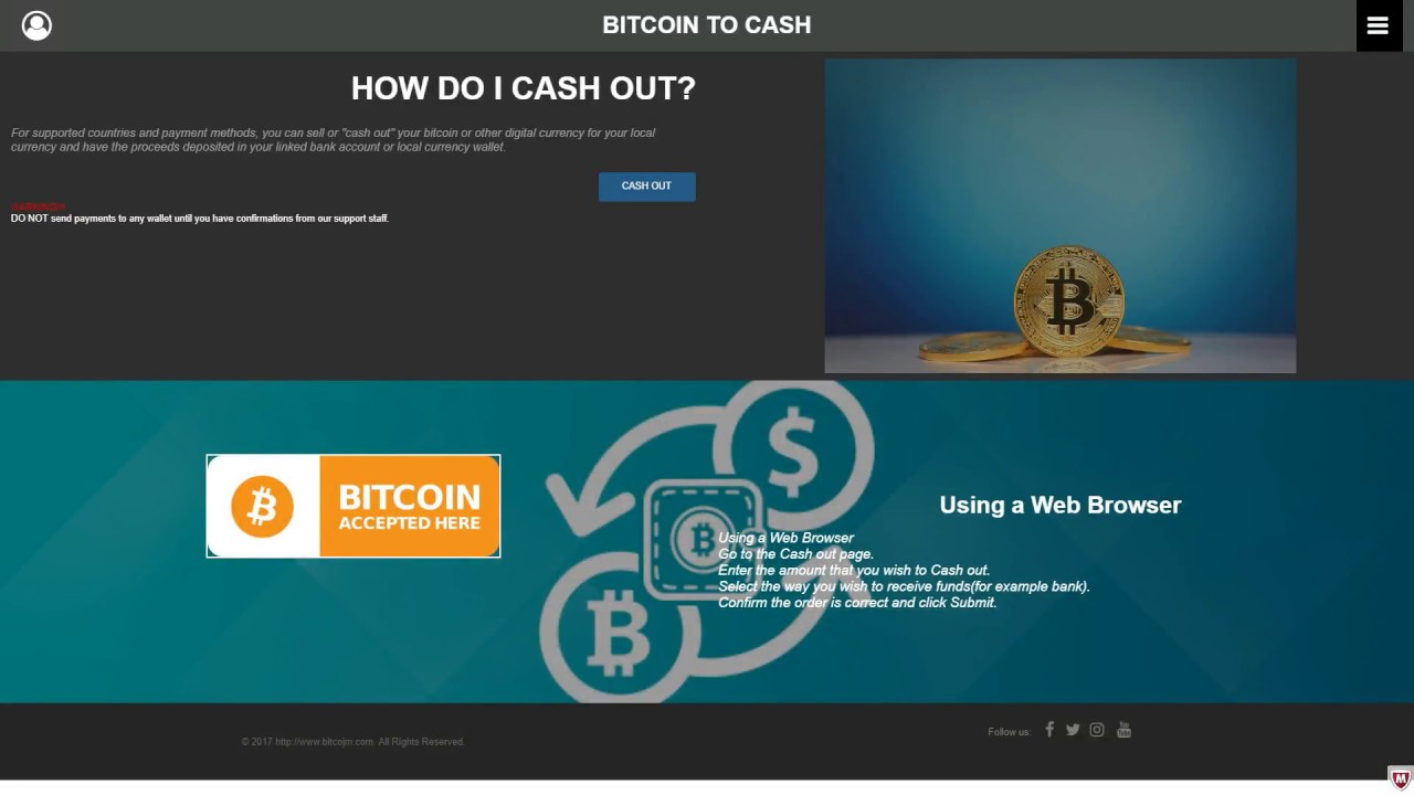 cash out your bitcoin