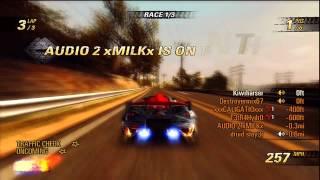 Burnout Revenge xbox 360 Angel Valley F online race