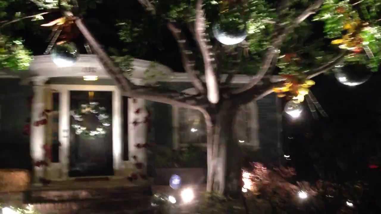 disco ball holiday christmas outdoor light display youtube - Christmas Outdoor Lighting