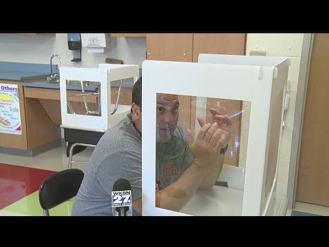 Weathersfield School District installs desk shields for added COVID-19 protection